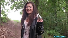 Quickie gender in the local forest in all directions Asian model Lin Lee
