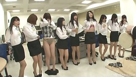 Volume of kinky Japanese babes exaggeration their duds to tease