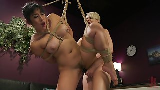 Mistress Helena Locke ties up and abuses Asian babe Mia Little