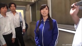 Asian babe Katou Honoka simply loves a good old gangbang
