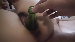Hot Asian Gets Drilled By The Bottle in Pussy