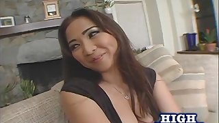 Long hair Scarlette with small tits getting anal smashing