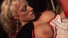 Brawny titted babes bouncing on cocks