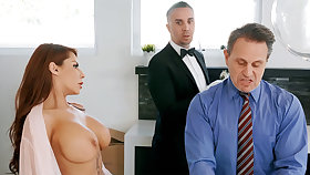 Horny chatelaine is near to anal fuck housewife