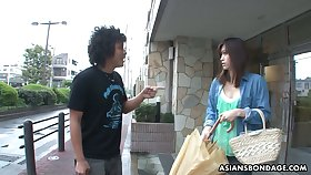 Several dudes fuck mouth of Japanese girl with respect to wooden stocks Saki Aiba