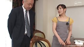 Horny mendicant asks his maid Ukita Kaori to fuck with him all day yearn