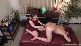 Nuru massage by a Japanese cutie ends with hardcore fucking